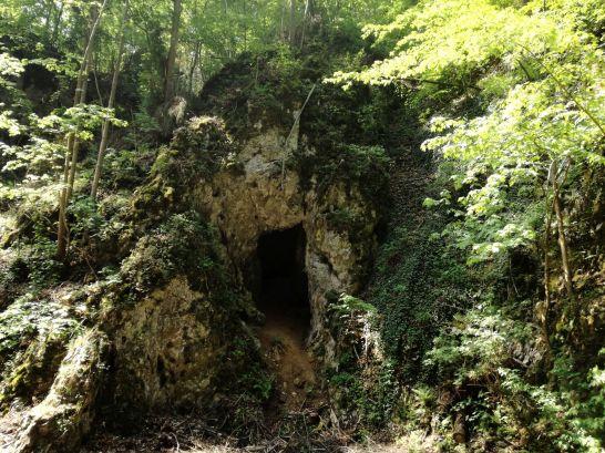 Malownicze wejście do jednej z jaskiń Krasu