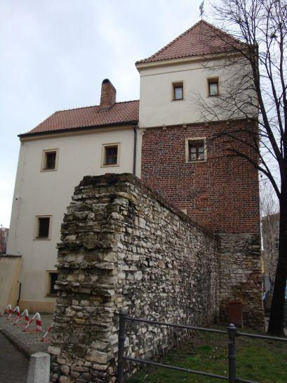 Mur przy Zamku Piastowskim w Gliwicach