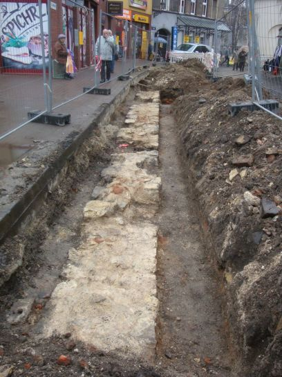 Relikt muru przy ul. Wodnej w Gliwicach