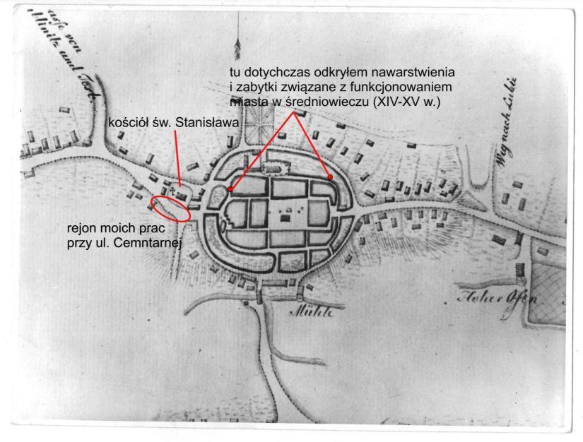 Plan Pyskowic z 1810 r.
