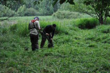 Ekipa poszukiwawcza w akcji, fot. A. Robok