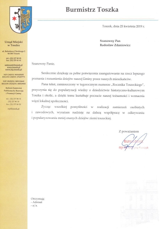 Toszek - rekomendacja