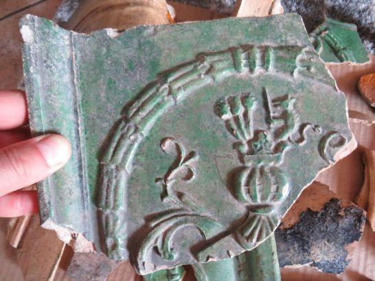 Ułamek kafla nowożytnego (fot. R.Z)
